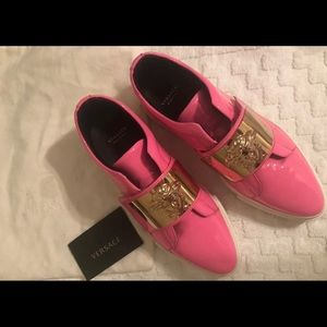 Pink Versace Loafers Limited Edition